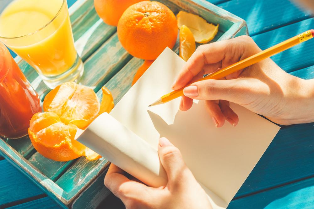 motivazzione dieta: scrivere un diario