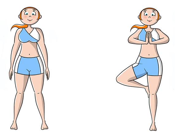 Le posizioni yoga per tutti, L'albero, per migliorare l'equilibrio interno ed esterno