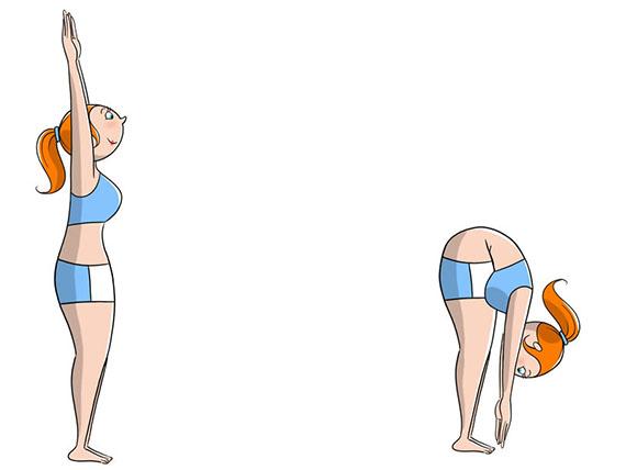 Le posizioni yoga per tutti, Posizione della pinza per scacciare le tensioni