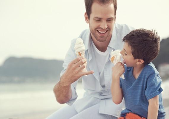 succhiare il gelato