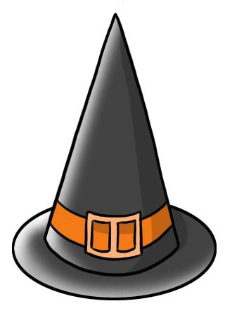 Cappello da strega perfetto per Halloween - Melarossa 55b813e36305