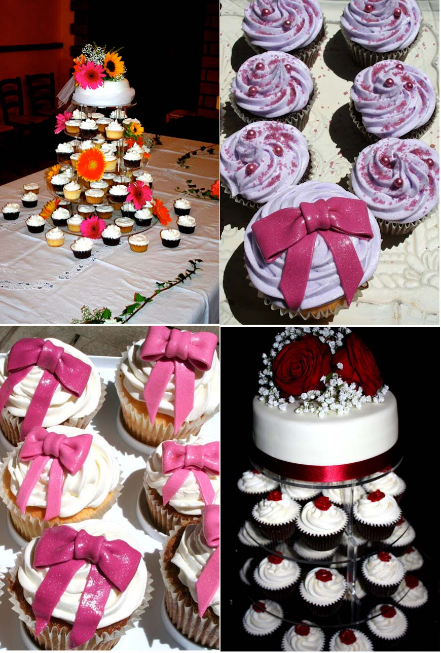 collage foto cupcakes