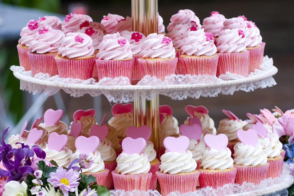 cupcakes alla vaniglia per matriminio o feste di compleanno