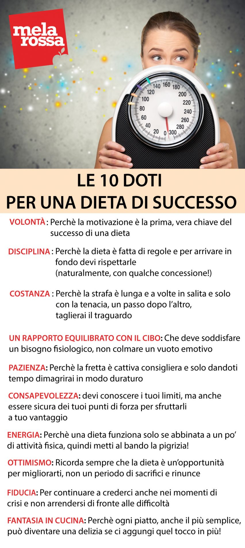 10 doti dieta di successo