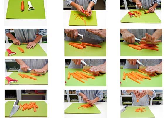 Fresche e sfiziose le carote alla julienne melarossa - Taglio alla julienne ...