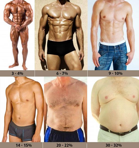 Massa grassa: tabella grasso corporeo uomini
