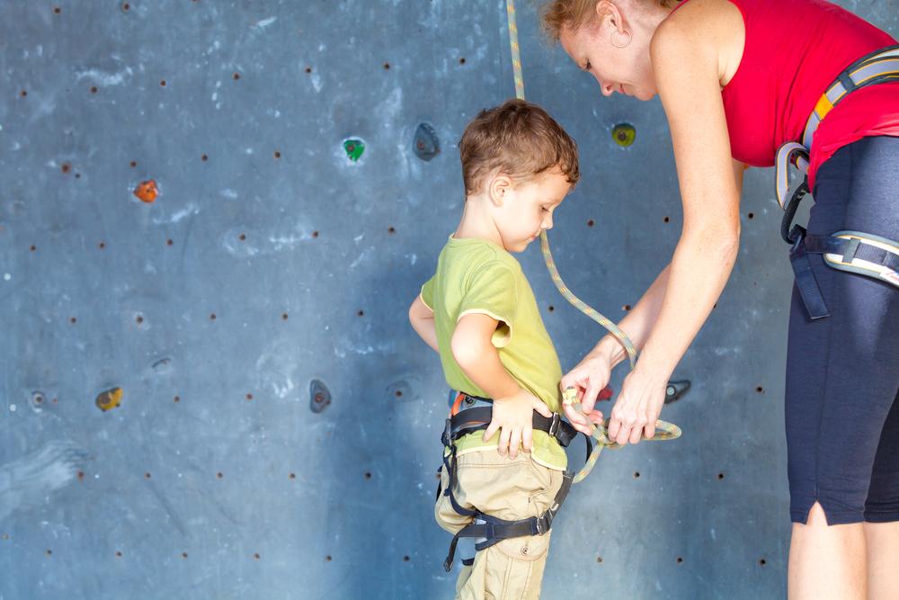 arrampicata da fare con tuo figlio