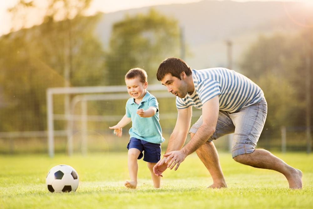 il calcio da fare con tuo figlio