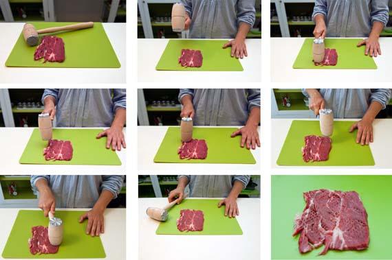 come battere la carne con batticarne