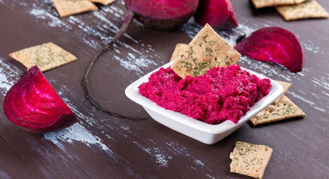 Ricetta del Hummus di barbabietola