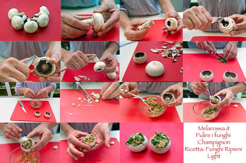 ricetta light funghi champignon ripieni