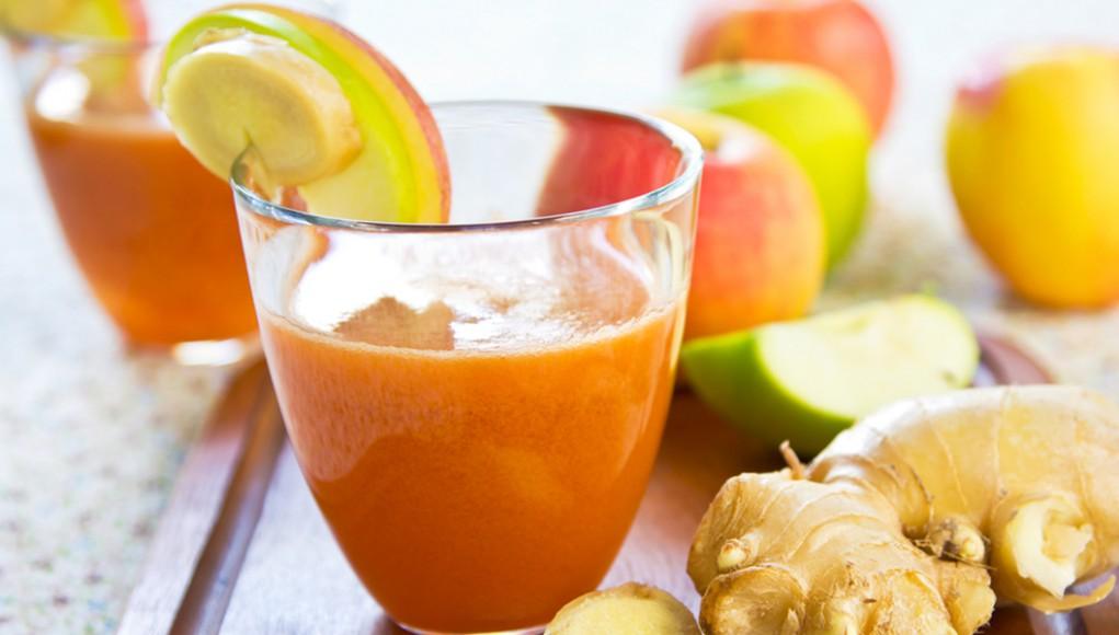 Smoothies, i frullati del benessere. smoothie mela carota zenzero