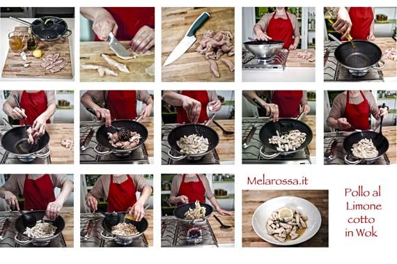 ricetta pollo al limone con wok step by step
