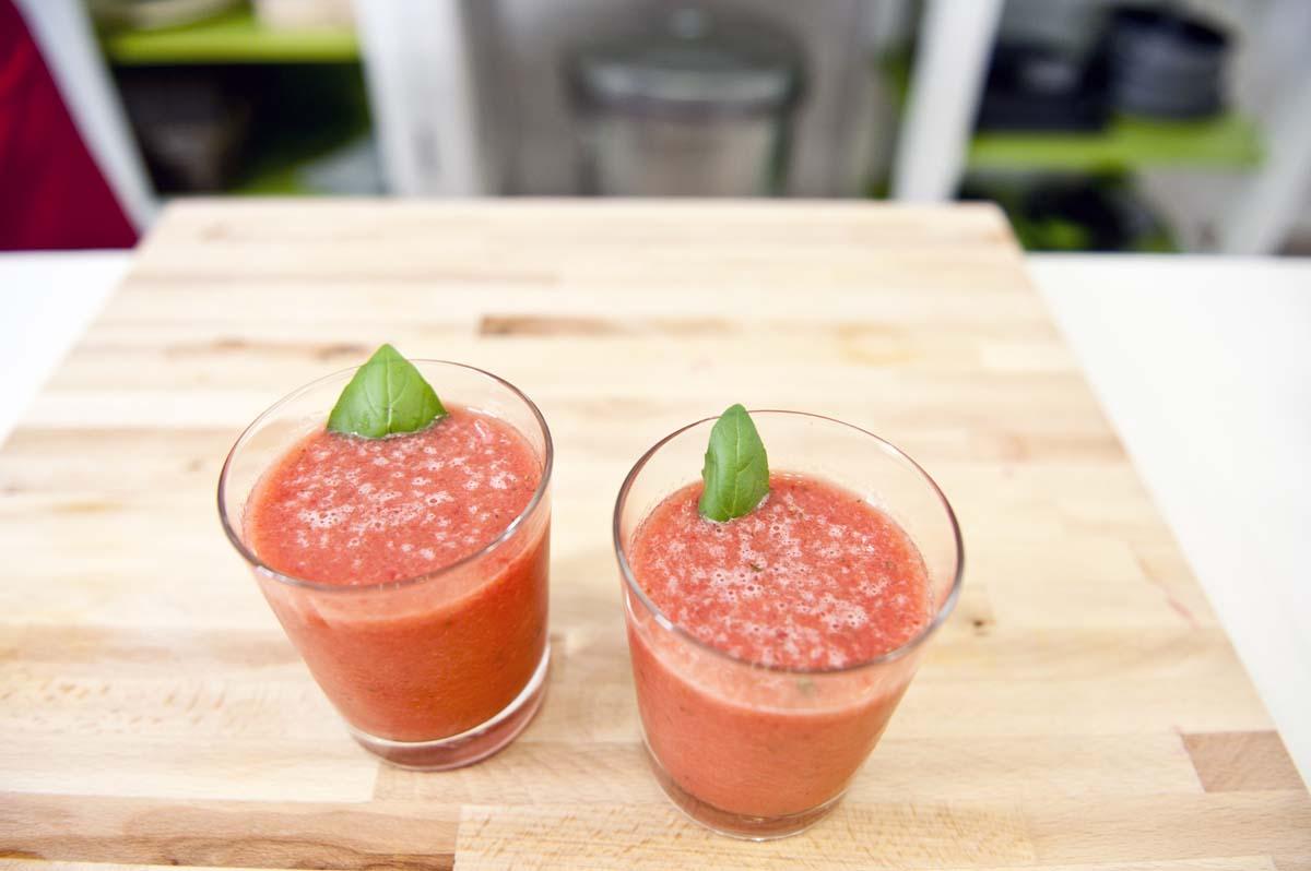 Assaggia gli smoothie delle star! Smoothie fragole e anguria
