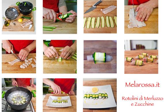 ricetta rotolini di merluzzo e zucchine al vapore