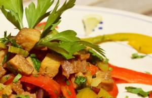 ricetta del seitan ai peperoni