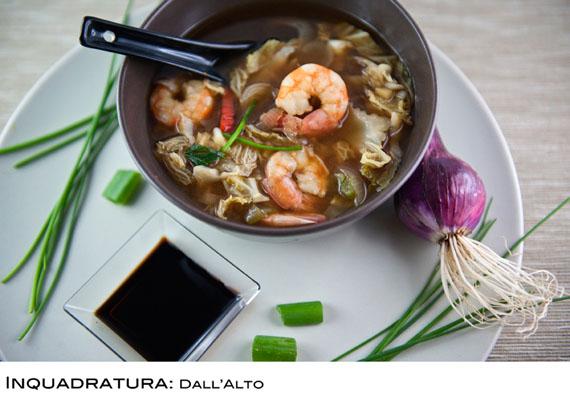 esempio di inquadratura dall'alto in food photography