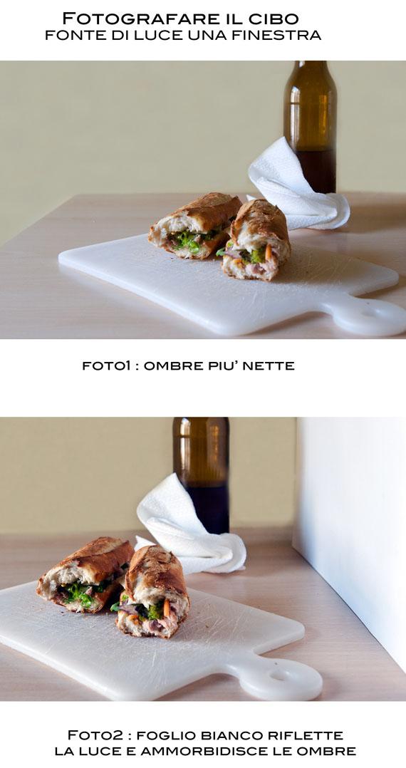 come utilizzare la luce nella food photography