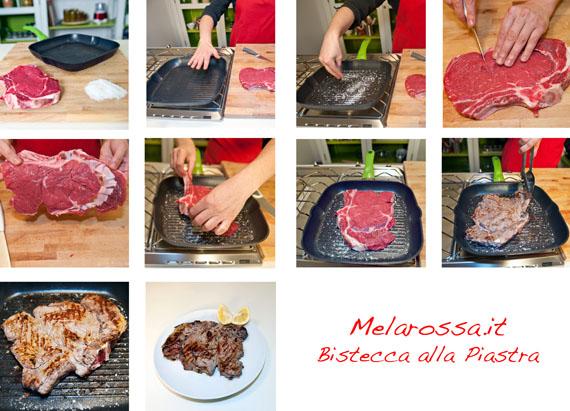 cottura bistecca alla piastra step by step