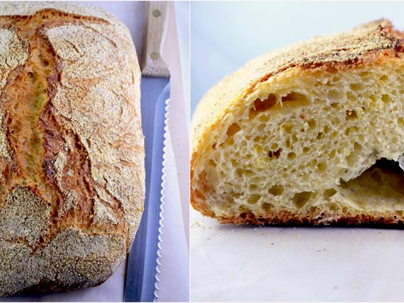 Profumo di pane! no knead bread