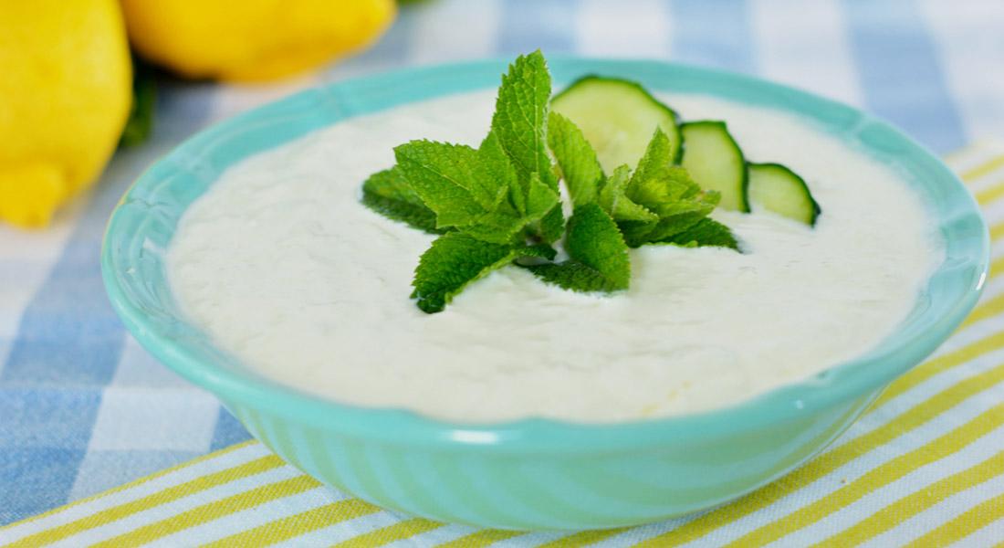 Salsa tzatziki light