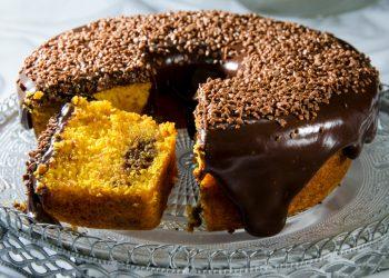 torta di carote e cioccolato