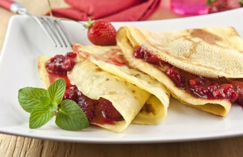 crepes alle fragole light