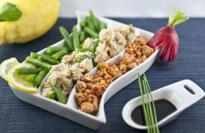 Insalata di bulghur e tofu