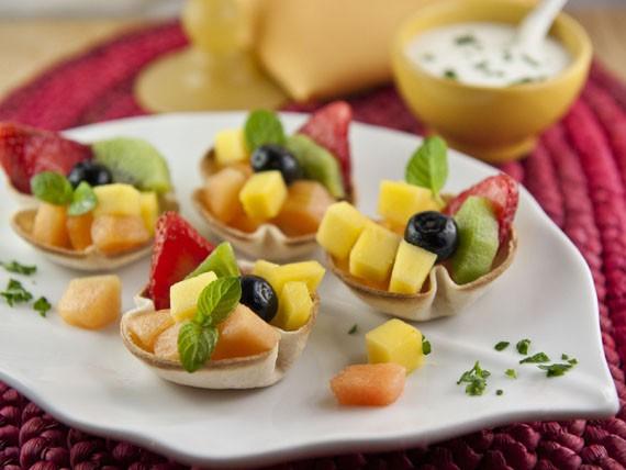 cestini di frutta, dolce estivo