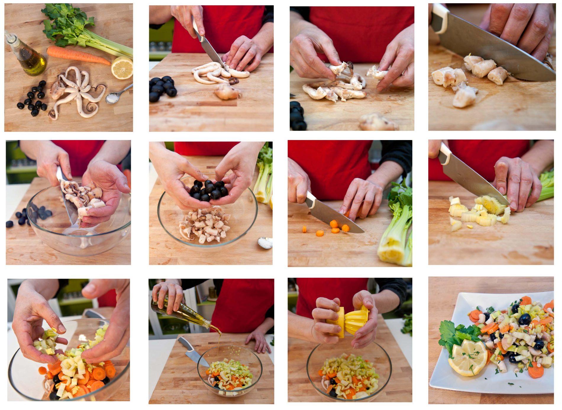 come preparare l'insalata di polpo