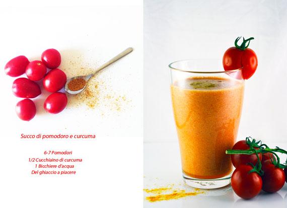 ricetta succo di pomodoro e curcuma