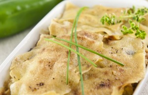 Lasagna di pane carasau con verdure e robiola