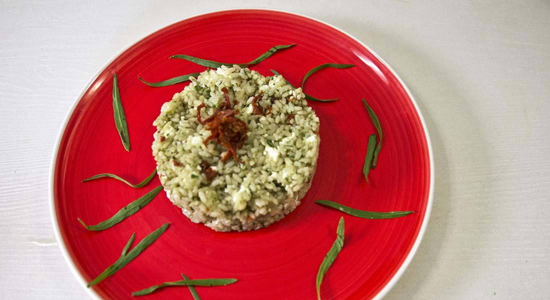 Riciclo in Cucina. Insalata di riso con pesto di dragoncello