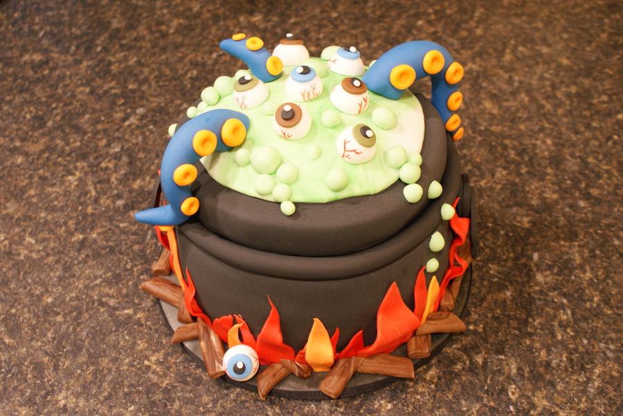 Idee torte per halloween calderone streghe