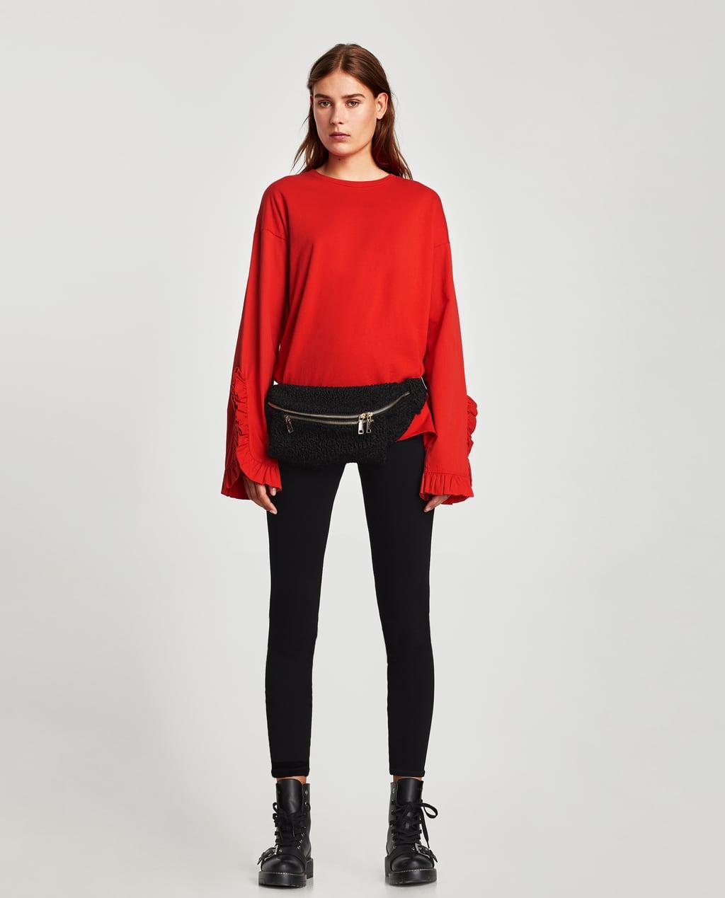 vestiti da donna rossi Top maniche volant Zara