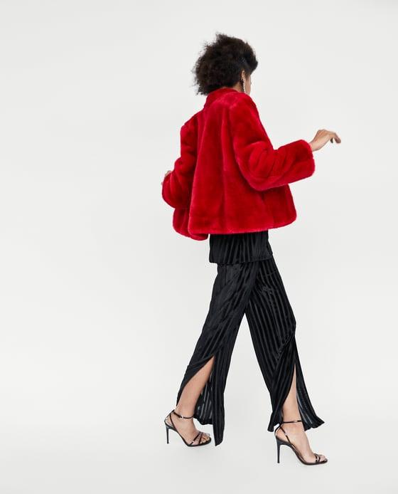 Vestiti per natale giaccone rosso Zara