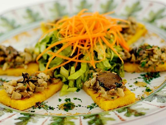 polenta con funghi e tartufo