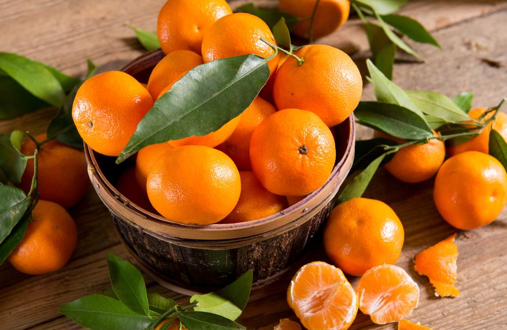 Mandarino, verdura di stagione