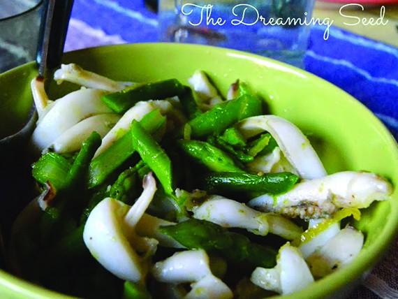 Asparagi: la primavera è servita! Insalatina di seppie e asparagi