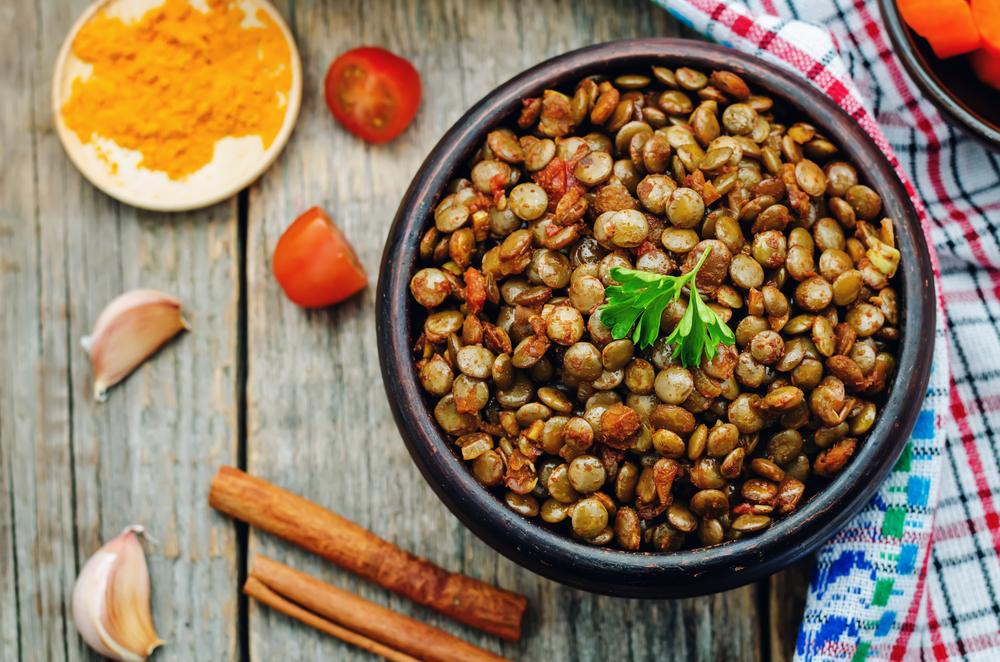 insalata calda di lenticchie