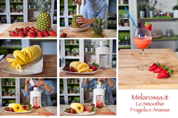 Lo smoothie disintossicante fragola e ananas