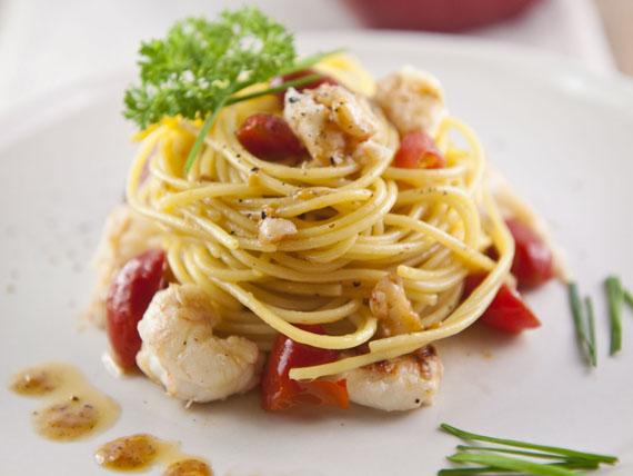 Un'estate a tutto pesce! spaghetti agli scampi