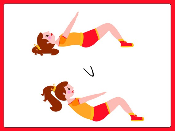 circuito sovrappeso: Abdominal crunch