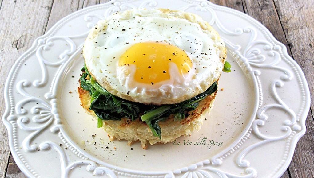 ricetta bruschetta di spinaci con uova