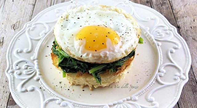 ricetta bruschetta con spinaci con uova