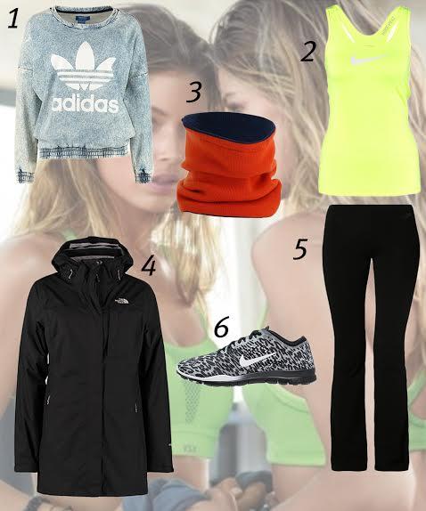outfit alla moda per fare sport