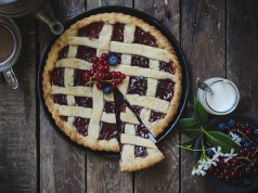 crostata light yogurt piatto finito