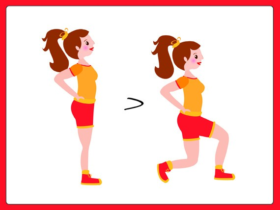 sovrappeso: sport da fare in casa Lunge