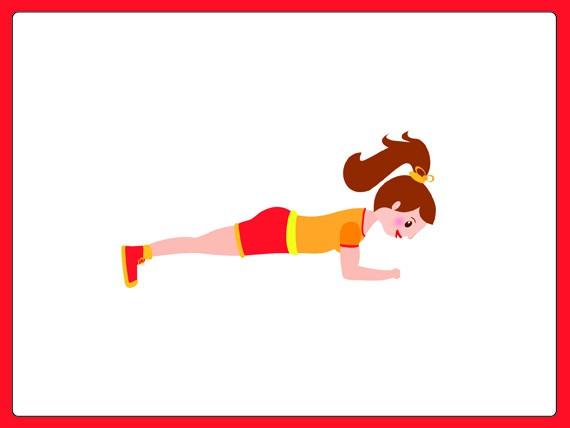 sovrappeso: plank