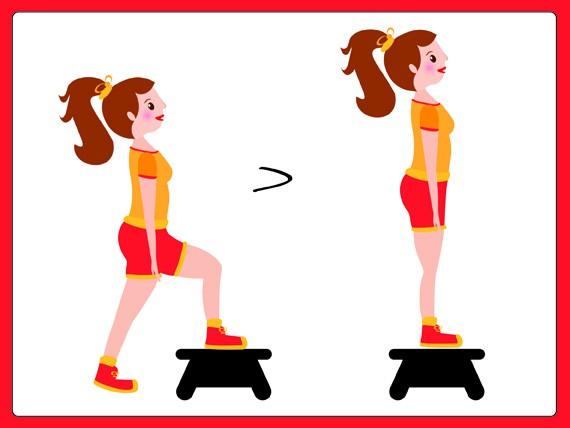 sovrappeso: Step-up onto step